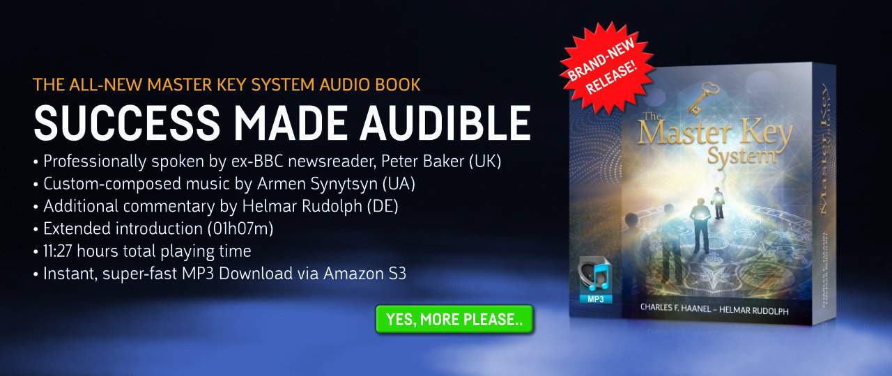 Master Key System Audio Book: Announcing the release of the product